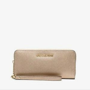 Michael Kors Metallic Leather Continental Wallet
